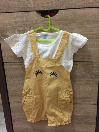Baju Kodok baby size 1-2thn