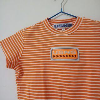 橘色短版T #五折清衣櫃