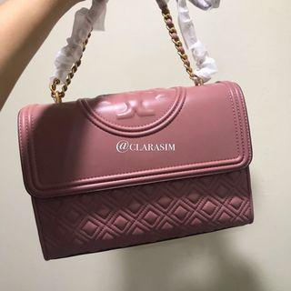 Auth Tory Burch Fleming Pink Large