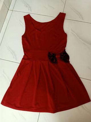 red bridal dinner dress