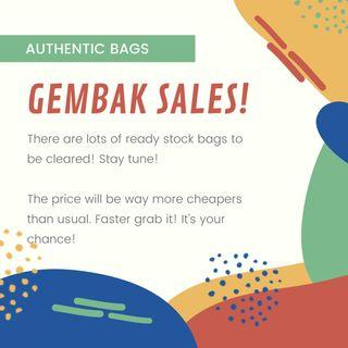 Gembak Sales!!! Clear ready stock!