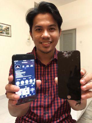 [SKRIN PECAH] DONE REPLACEMENT LCD IPHONE 7 At PUTRAJAYA✅