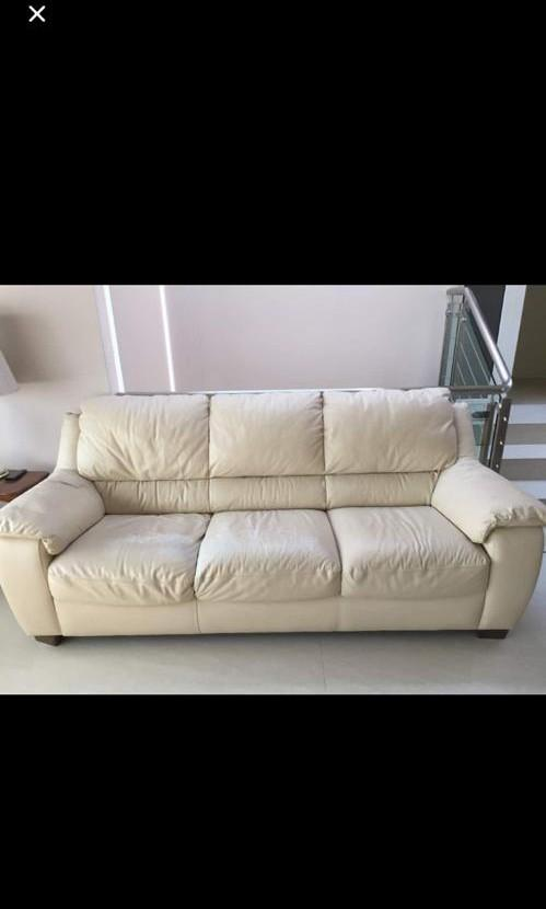 3 Seater Sofa Genuine Leather By