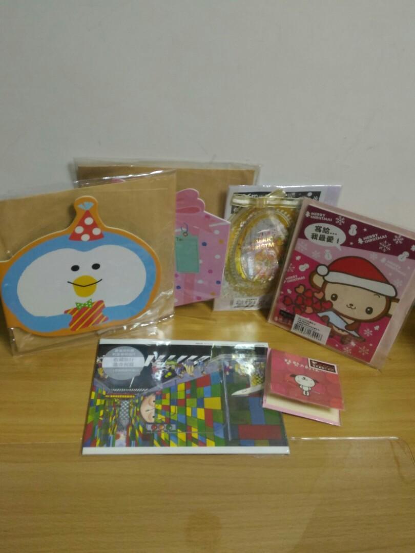 聖誕卡,萬用卡,明信片,6個
