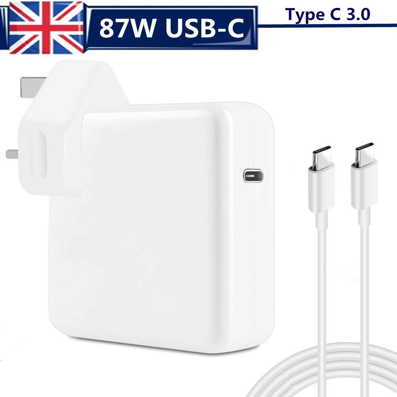 87W USB-C Power Adapter 87W Type-C Power Delivery Laptop Charger with 2M USB C Cable Compatible with Macbook Pro//Air Charger Compatible Macbook Pro 12 13 15 2016 Late MacBook Air 2018 Late