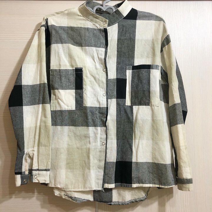 格子 格紋襯衫外套