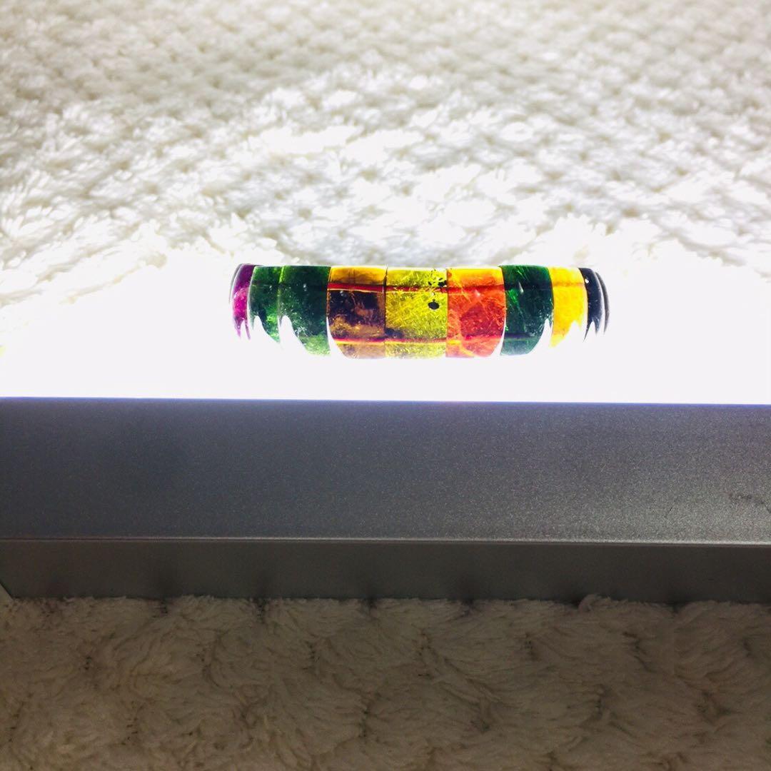 珍貴極品極美的黑玫瑰 老礦玻璃體 彩虹碧璽 高檔黑糖碧璽深透暗碧璽巴西老礦 油潤純淨 手排 手鍊 手環  尺寸:14mm 手珠:重量約 29.88g  手圍:約 18cm