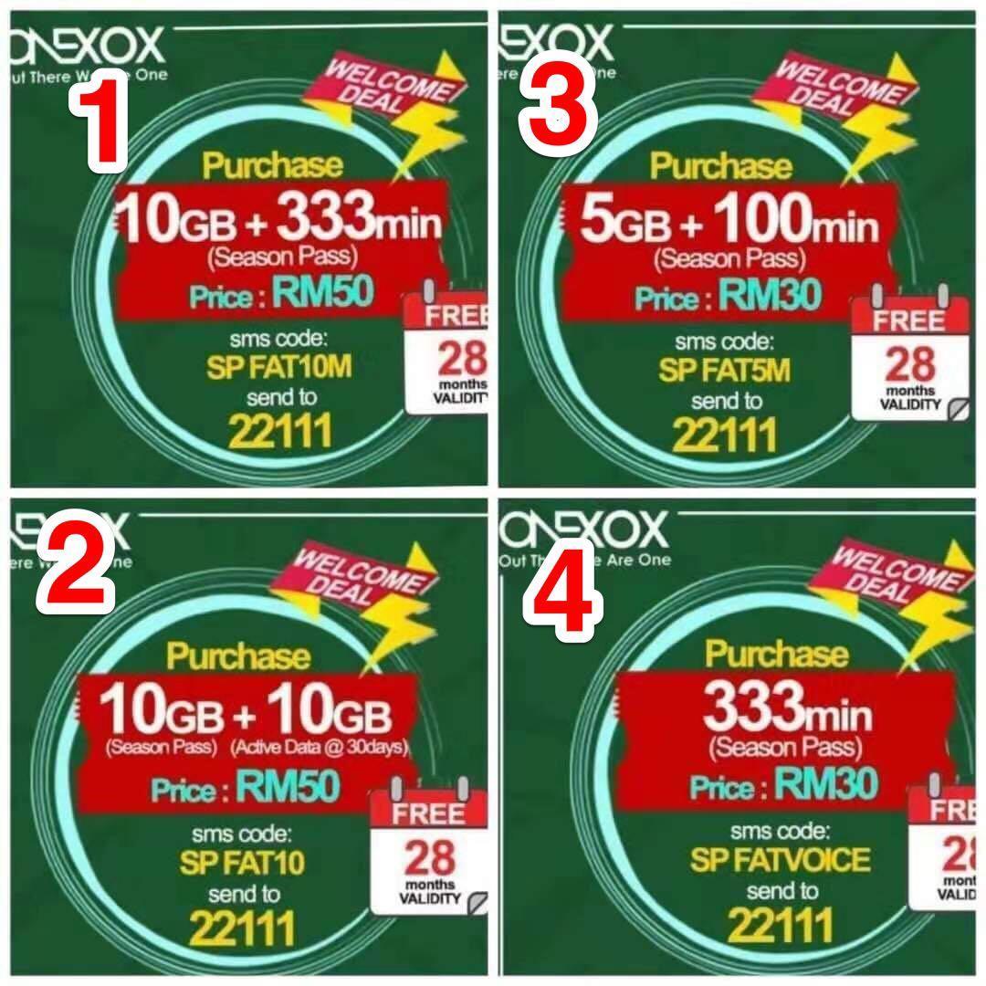 Active ONEXOX prepaid SIM card 28months validity