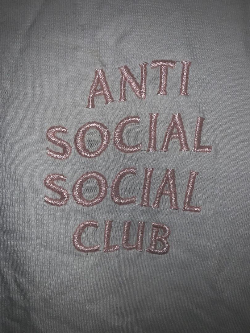 Anti social social club溫度變色短T 8成新