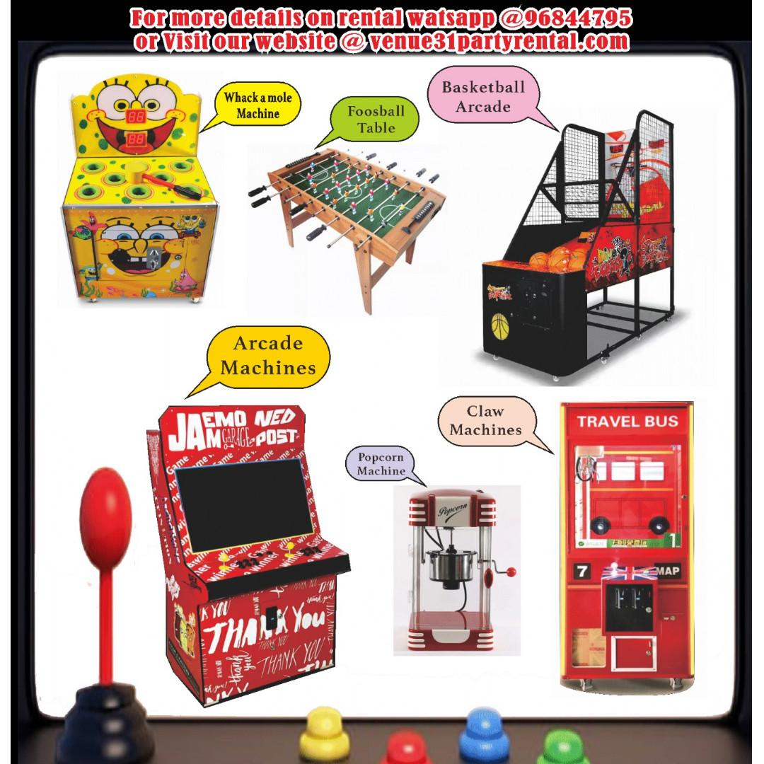 Arcade Rental - For Parties. MUST TRY.