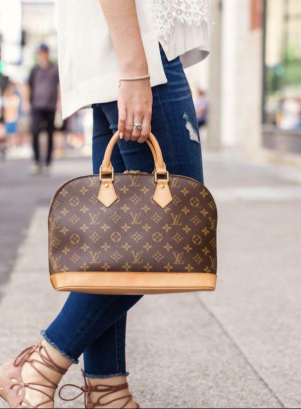 Authentic Vintage Louis Vuitton Alma Monogram Leather