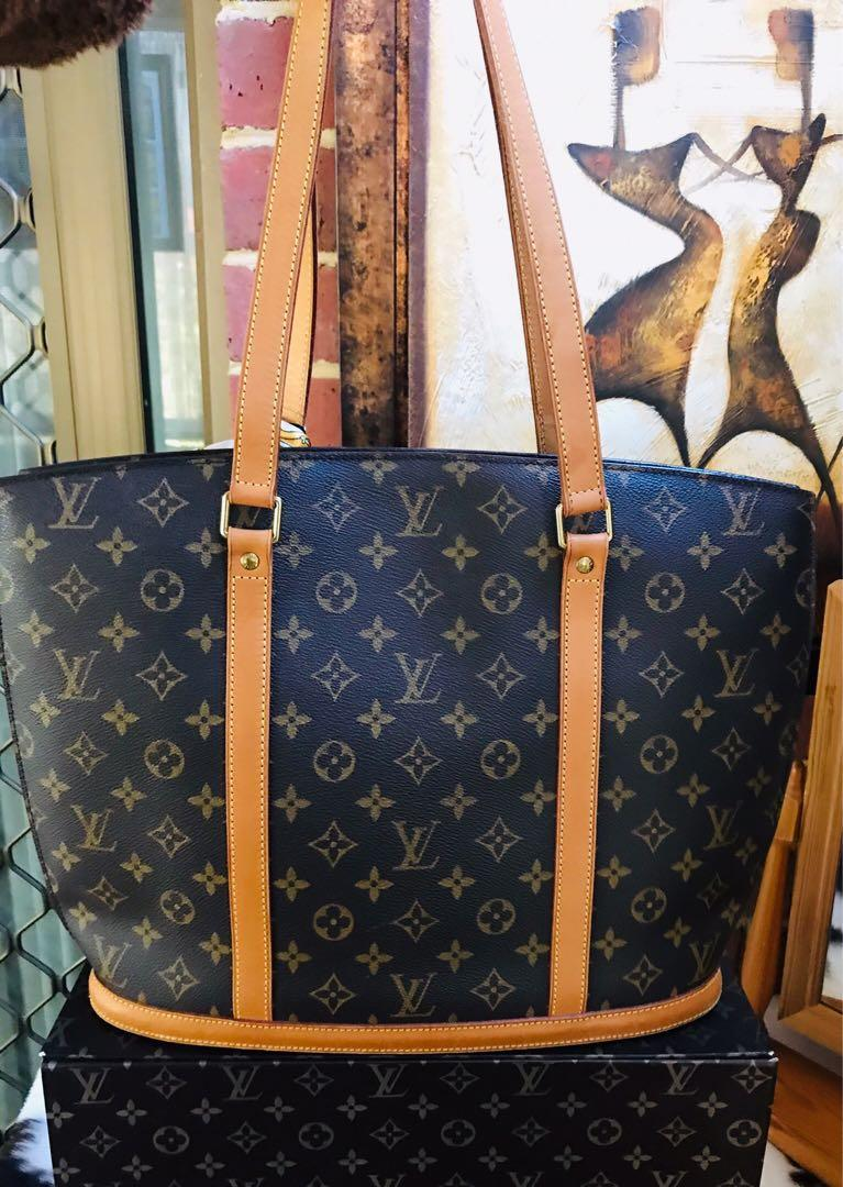 Authentic Vintage Louis Vuitton Babylone Tote Monogram Leather