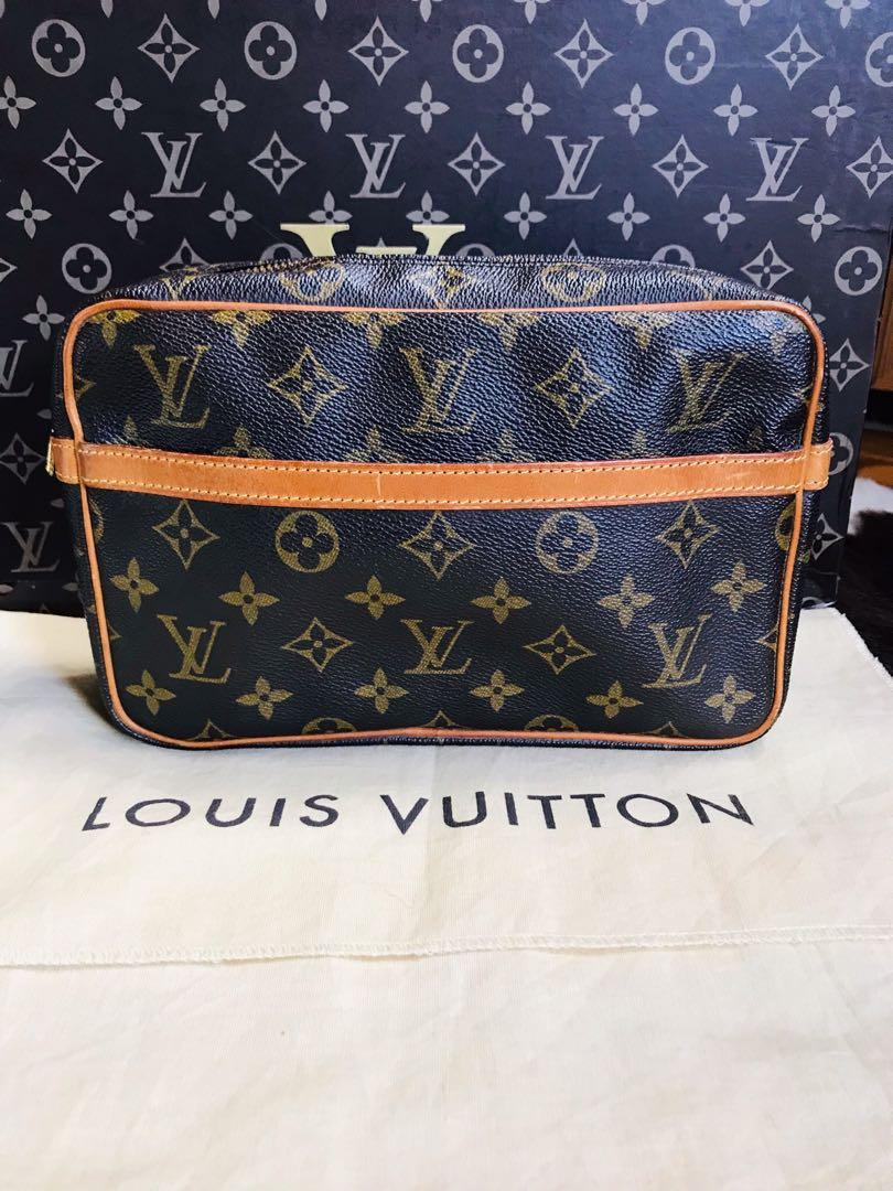 Authentic Vintage Louis Vuitton Compiegne 23 Monogram Leather