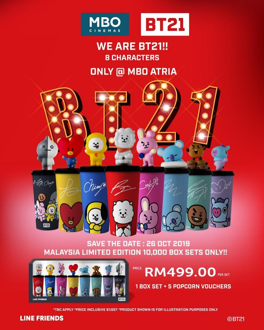 BT21 MBO CINEMA TUMBLER CUP BTS