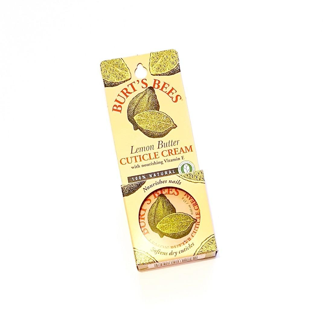Burt's Bees Lemon Butter Nourishes Nails Softening 100% Natural Cuticle Massage Cream with Nourishing Vitamin E