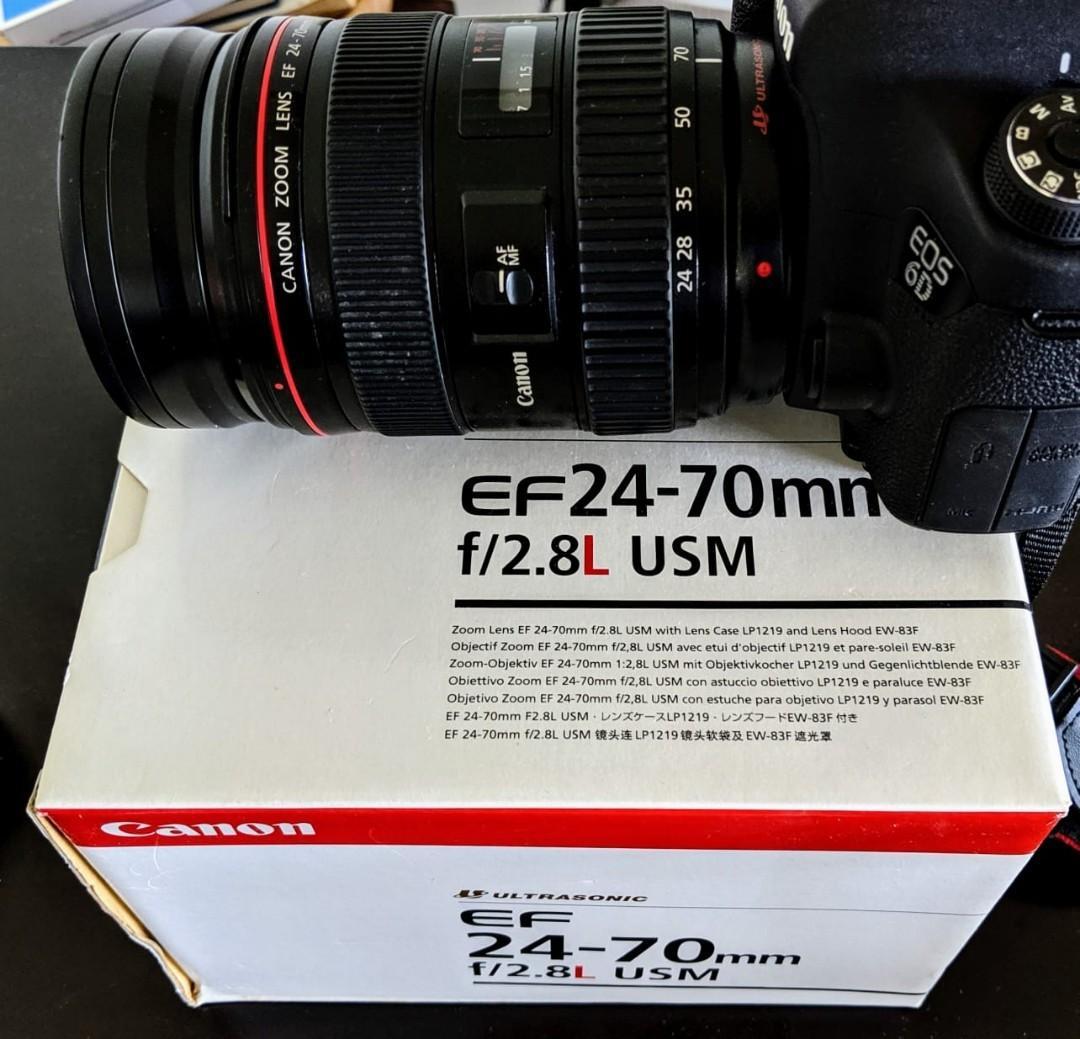 Canon EF 24-70mm f2.8L USM lens  原廠完修付證明