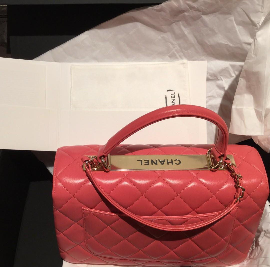 Chanel 珊瑚粉色 兩用 Handle Bag 全新 手挽 CORAL色 #sellmybags