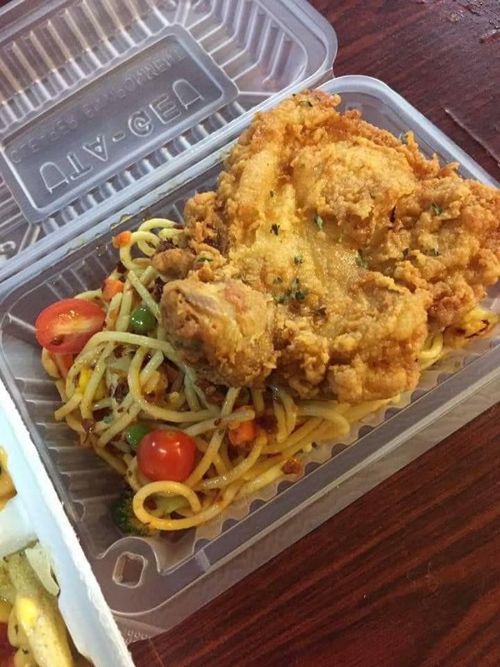 Chicken spaghetti aglio