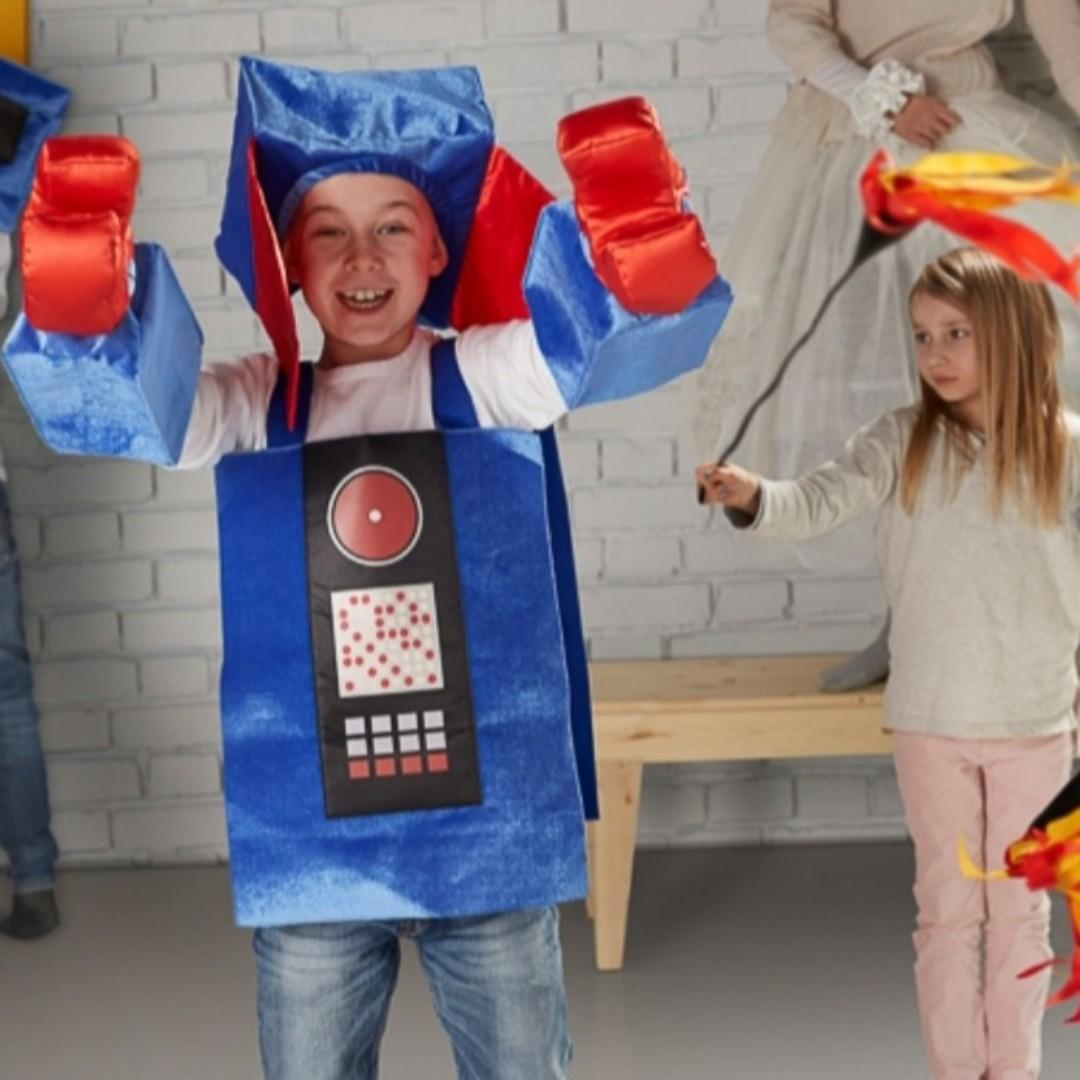 Children Kids Robot Cosplay Costume - can also play during Halloween