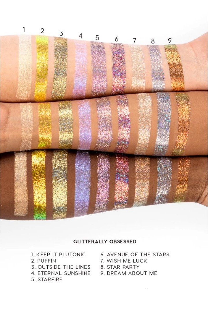 colourpop outside the lines glitterally obsessed glitter gel