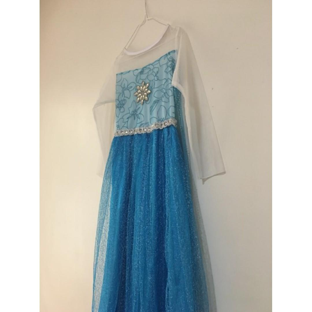 Elsa Costume Frozen Movie for Girls 5-7 Years Old