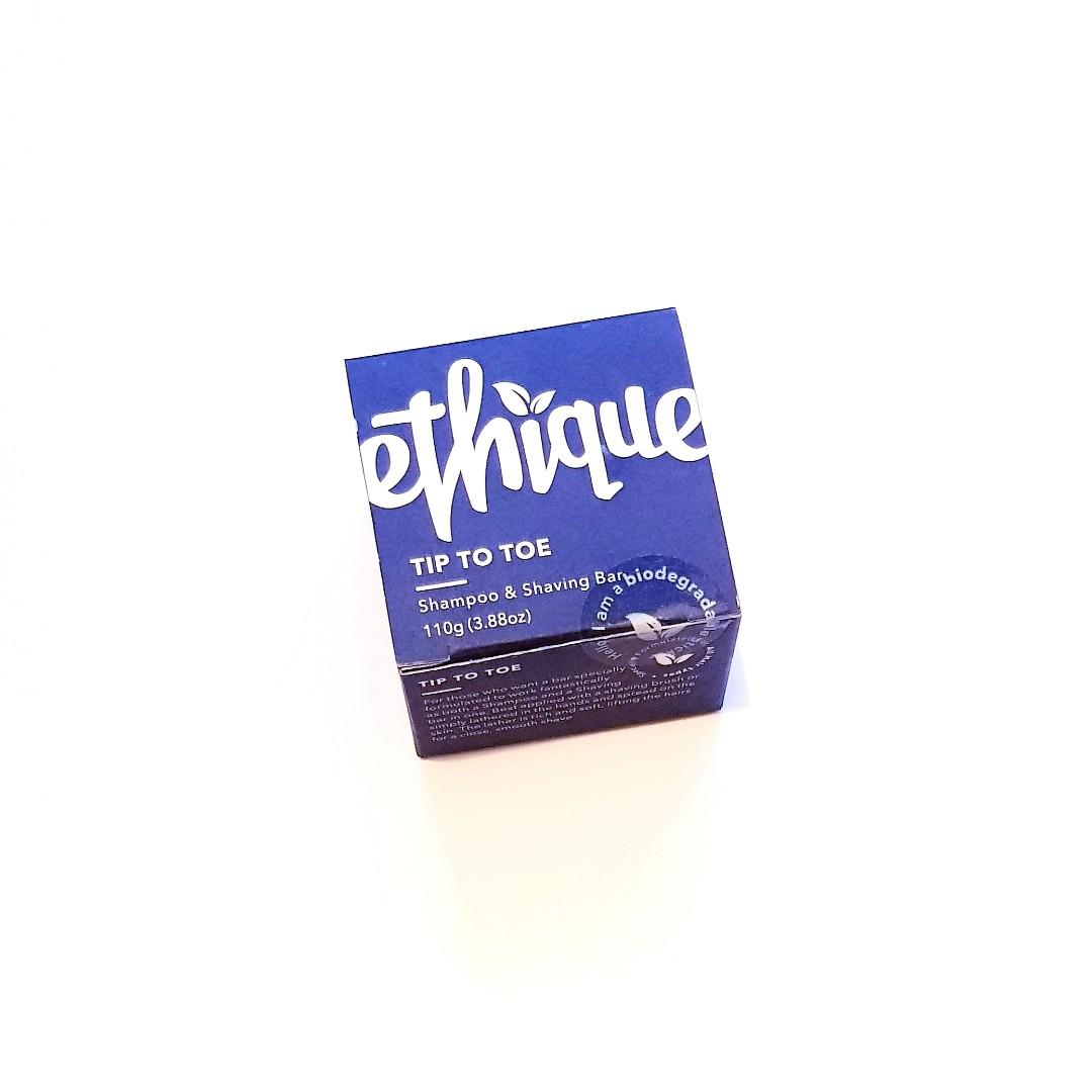 Ethique Cruelty Free Tip To Toe Biodegrable Package Free Shampoo & Shaving Bar