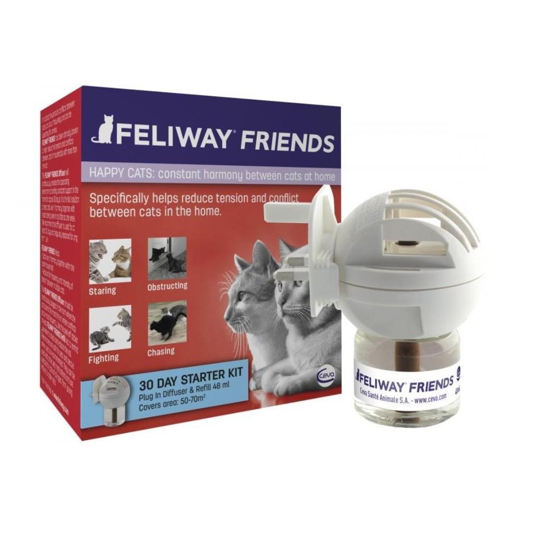Feliway Friends 情緒香薰套裝 預防貓貓們衝突 補充裝 連 三腳插座