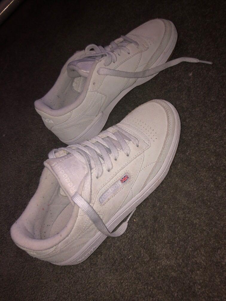 Grey/ white Reebok shoes size 6