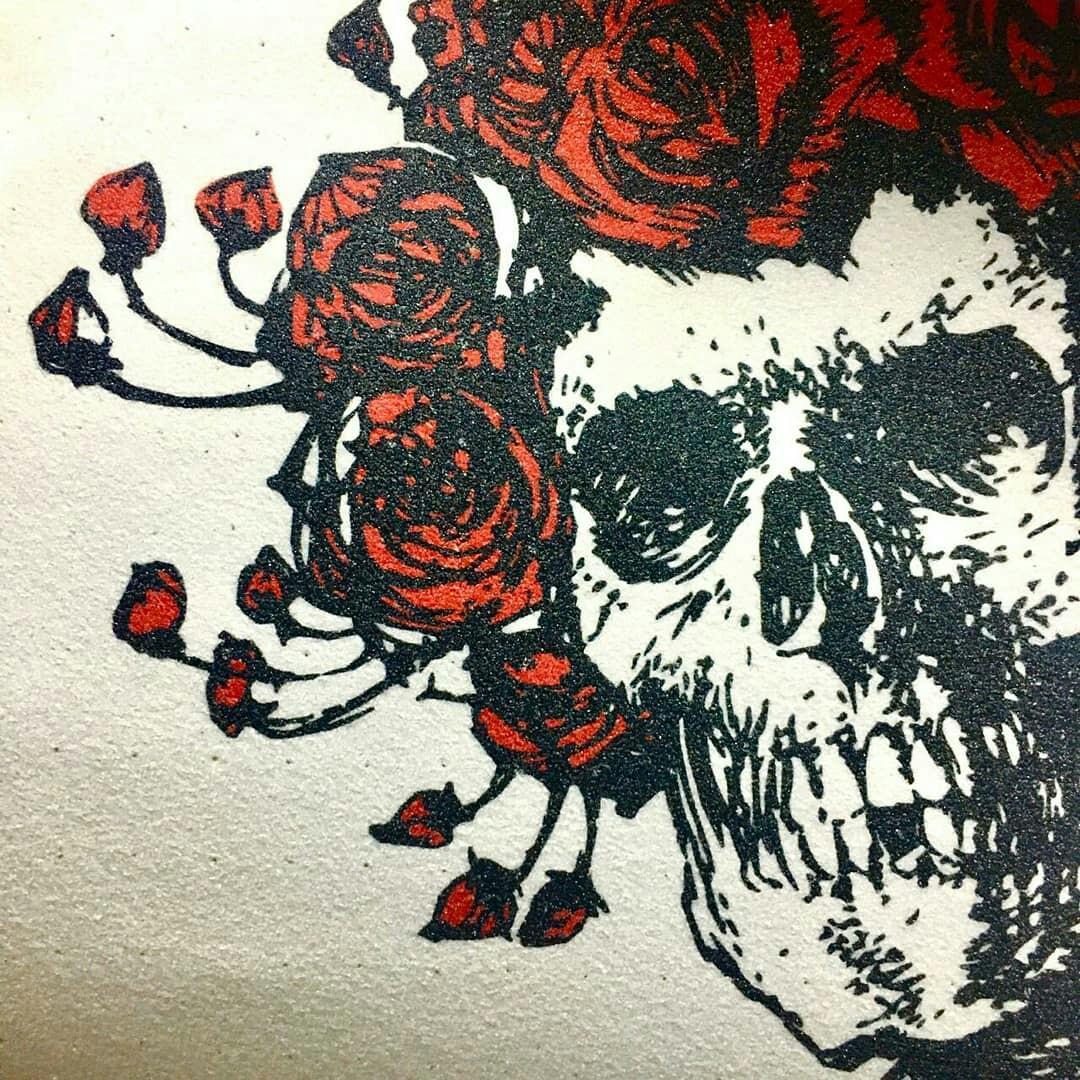 Grizzly X Grateful Dead Griptape Skateboard