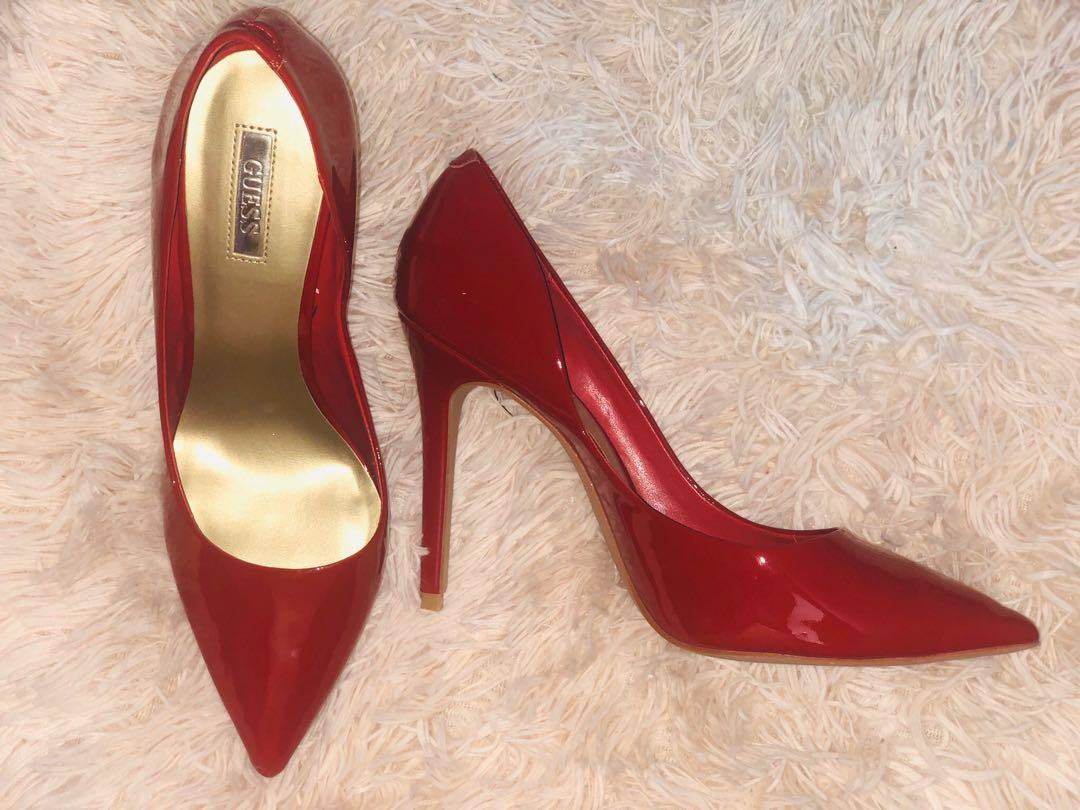 Guess red d'orsay high heels size 8.5 (ideally 8) 👠