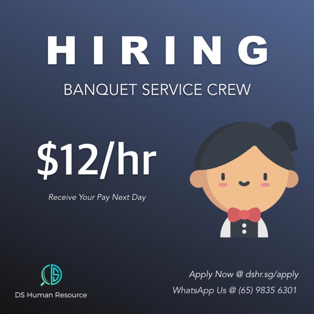 Hiring $12/hr Part-Time Banquet Staff