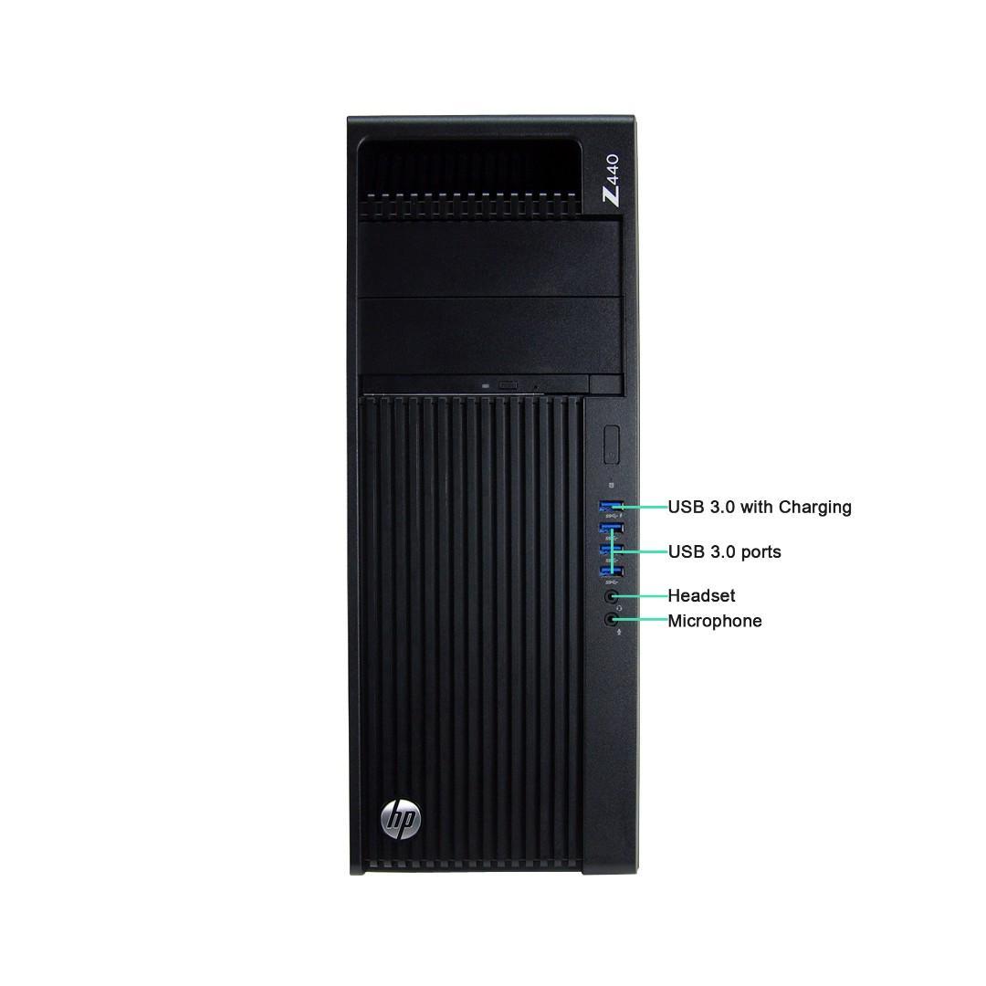 HP Z440 Workstation Desktop, Intel Xeon E5-1620 v3 3.5GHz, 32GB RAM, New 240GB SSD,1GB GPU, Win 10 Pro, One Month Warranty