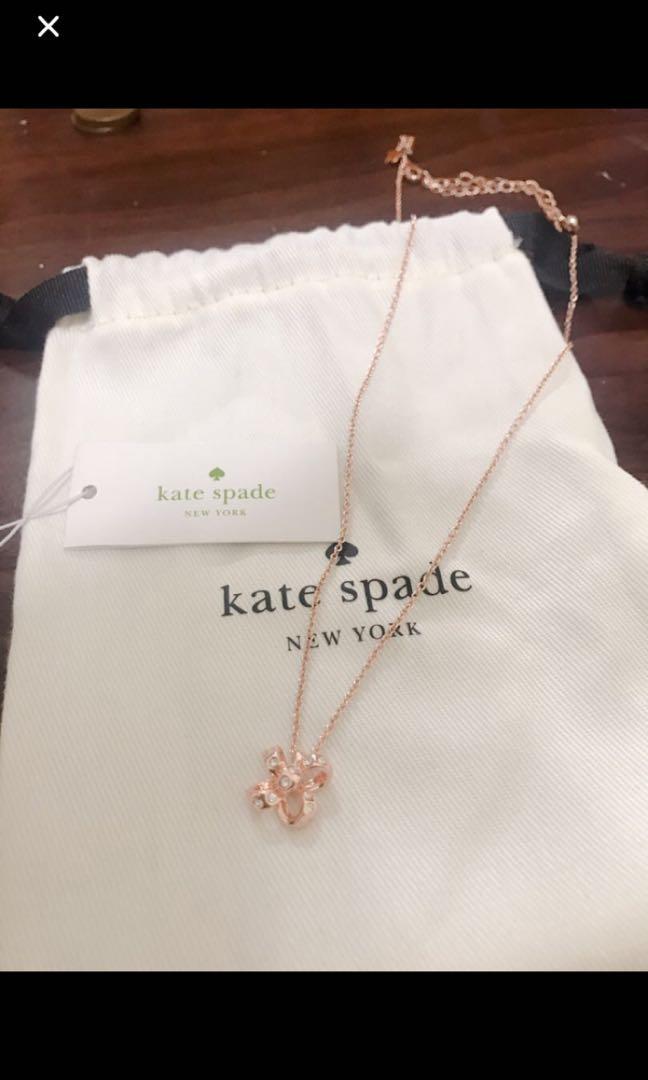 Kate spade項鍊(玫瑰金)