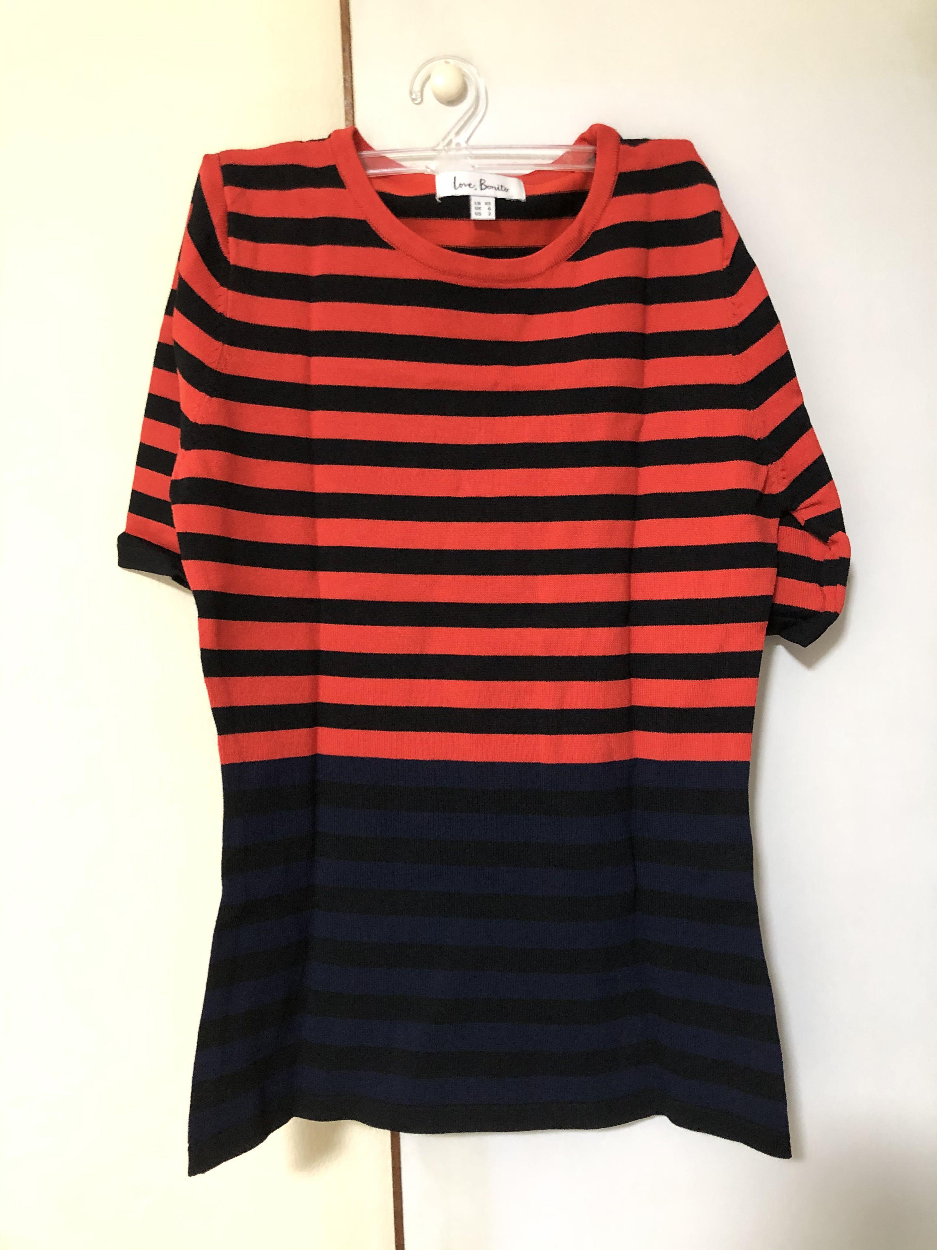 LB striped knit top