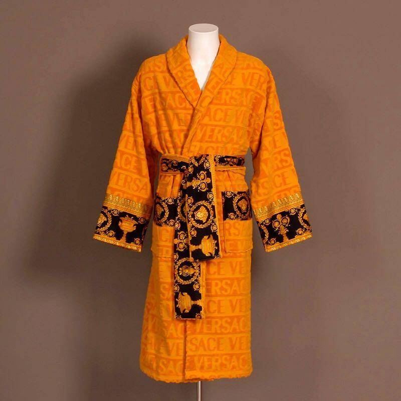Luxury Italian Baroque Bathrobes Medusa Designer Night Robes