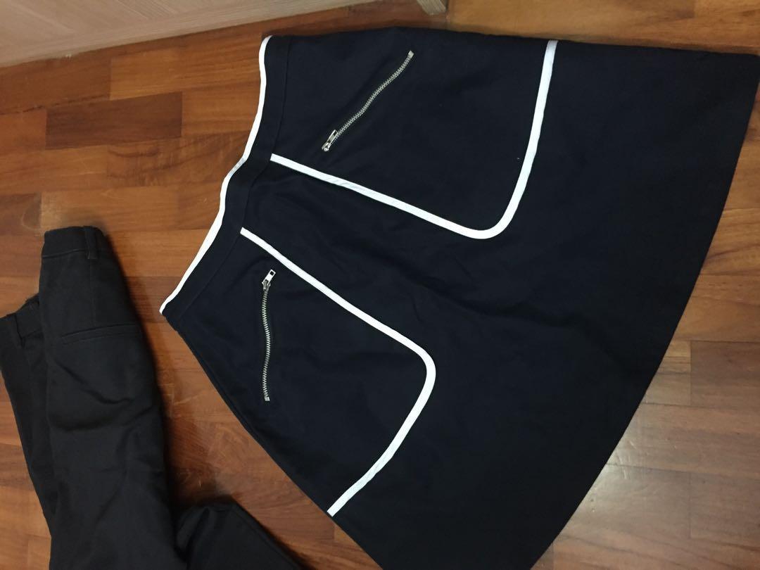 (M) Love Bonito Carra Contrast Piping Mini Skirt