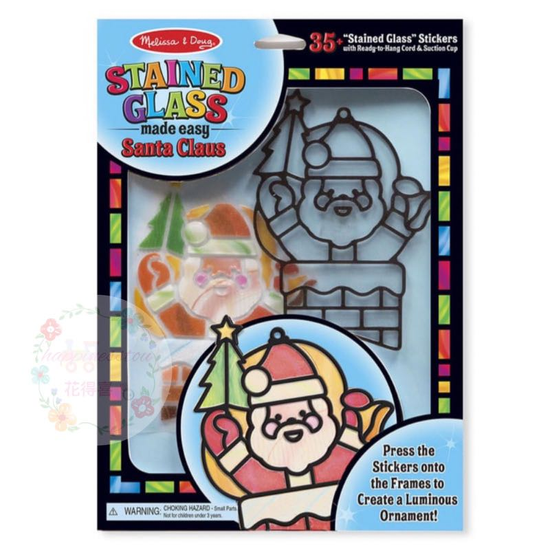 Melissa & Doug Stained Glass Made Easy Santa Claus  3D立體玻璃貼吊飾玻璃貼