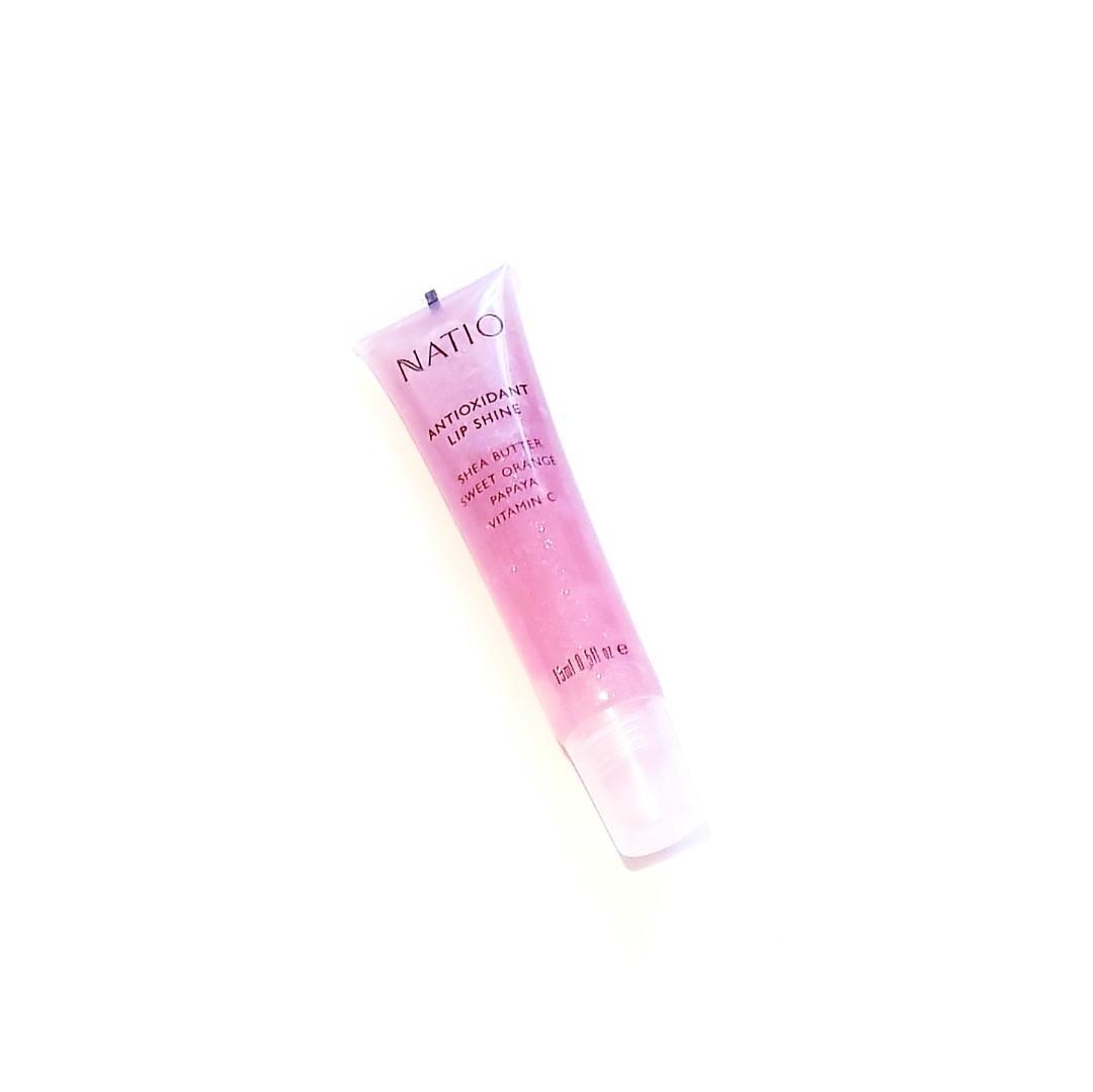 Natio Antioxidant Super Shiny All Skin Types Gloss Lip Shine with Shea Butter, Sweet Orange, Papaya & Vitamin C
