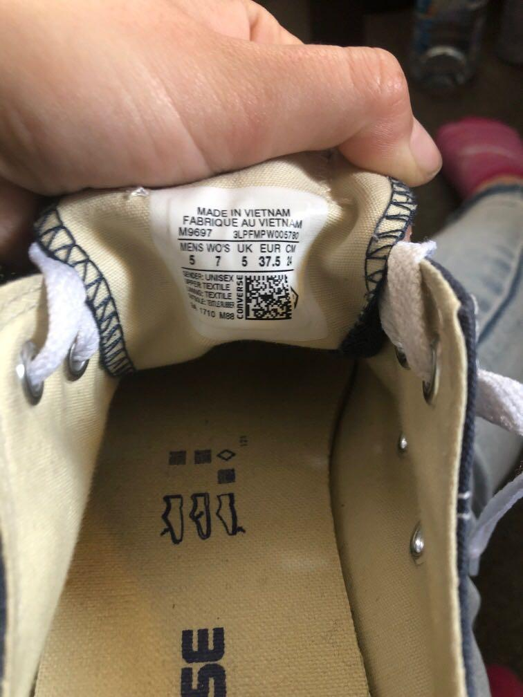 Navy converse all star size 7 womens