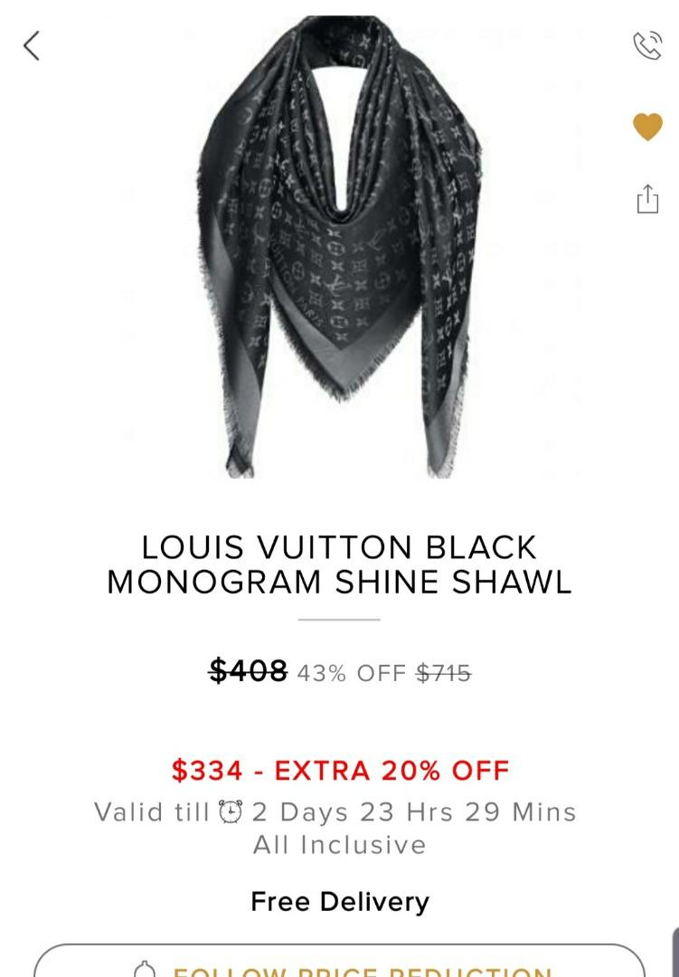 NEW COUNTER LOUIS VUITTON SHAWL