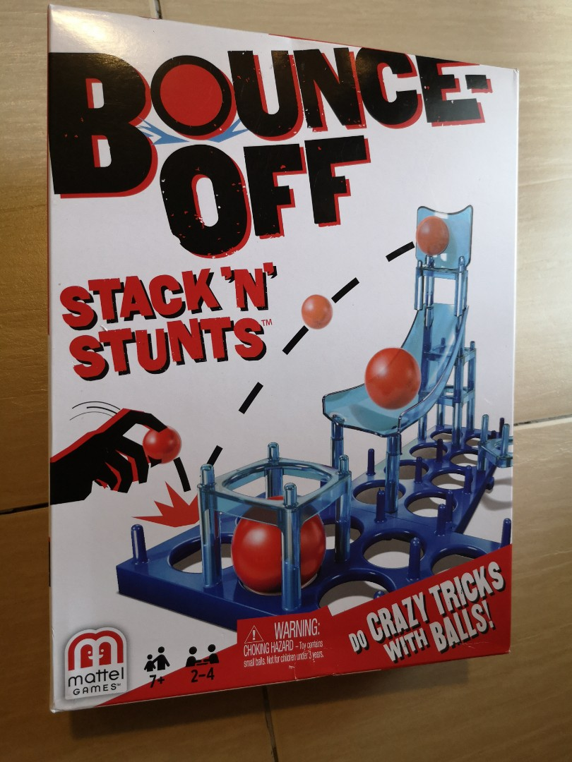 New Mattel Bounce Off Stack 'N' Stunts Game