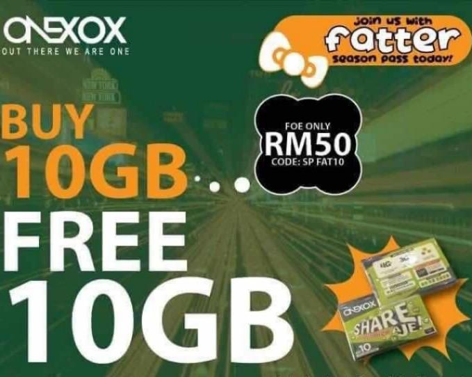ONEXOX - Malaysia Prepaid Simcard with 28 MONTHS VALIDITY !!! LATEST PLAN AS AT 5TH DECEMBER 2019