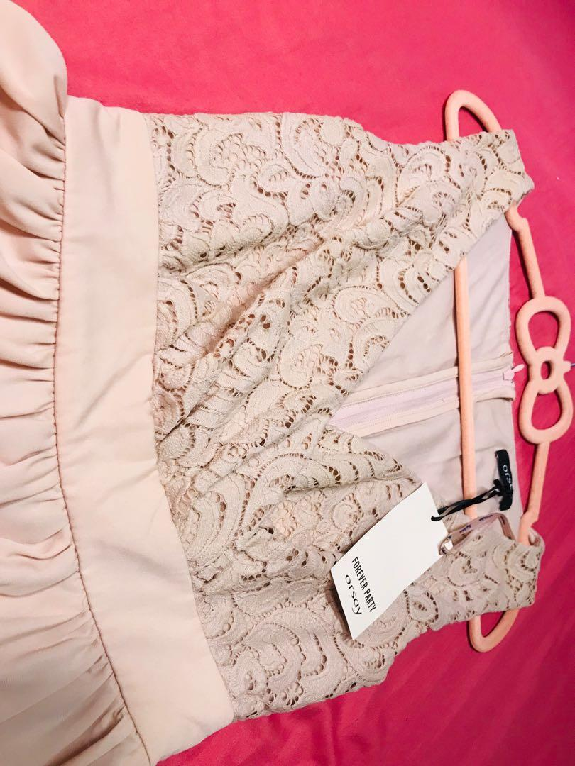 Orsay蕾絲pinkpink連身裙