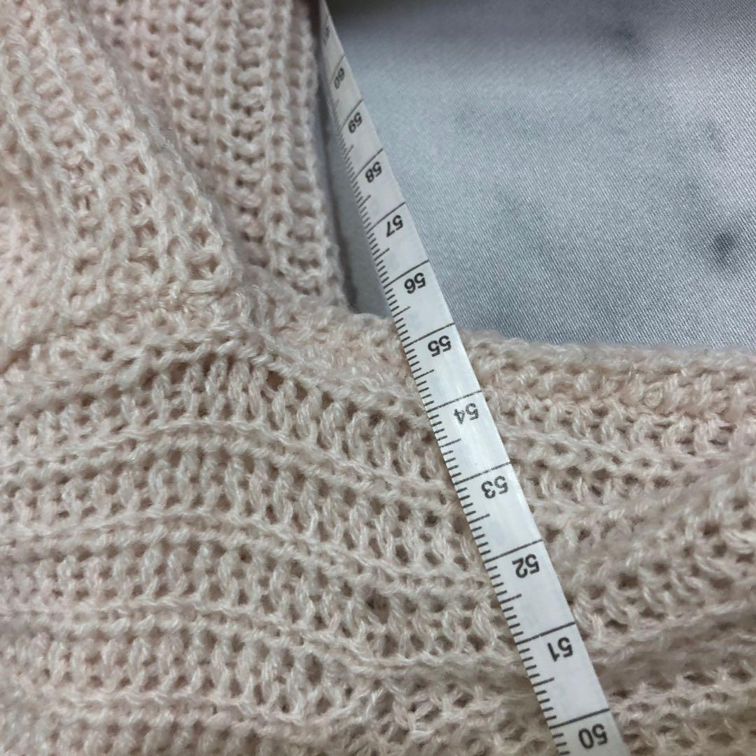 oversized cropped factorie knitted sweater