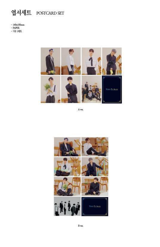 [Pre Order] Victon official Postcard Set[ Type A/B]
