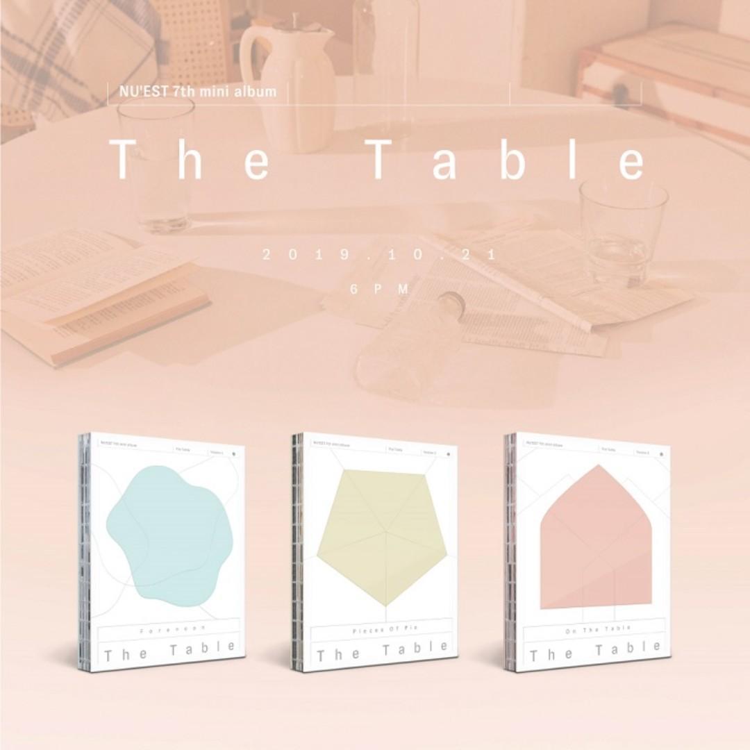 [PREORDER] NU'EST 뉴이스트 - THE TABLE / 7TH MINI ALBUM