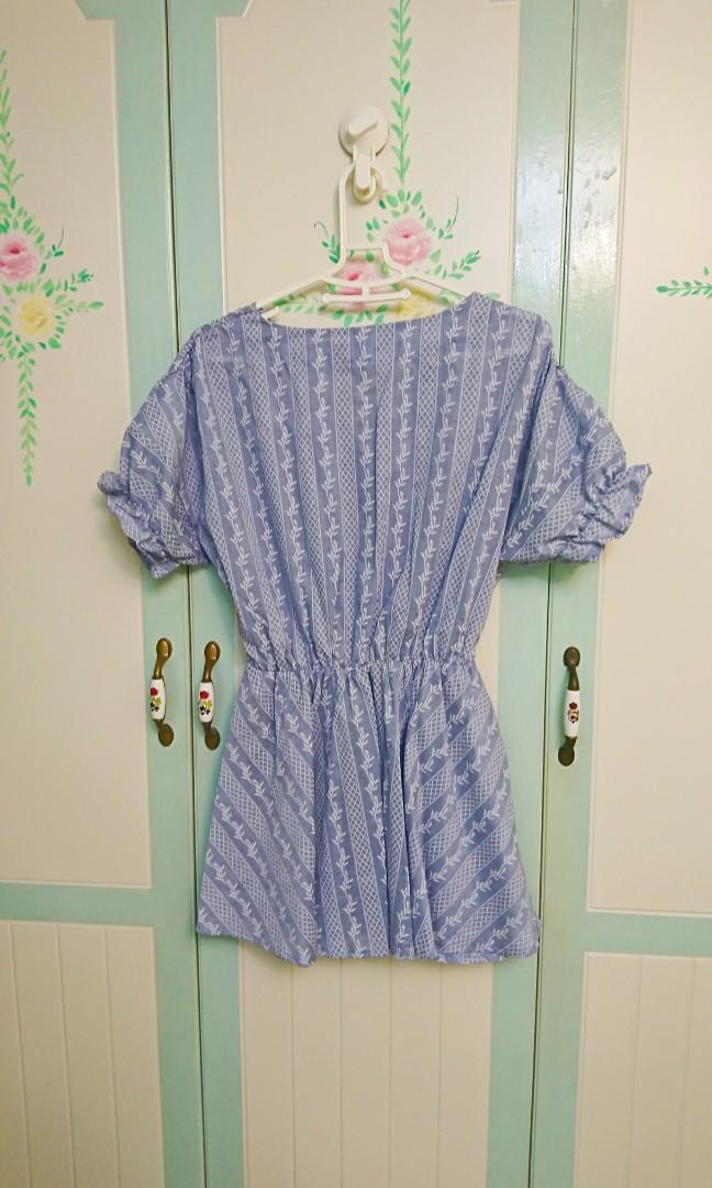 PUFI波西米亞刺繡縮腰洋裝 二手近全新#五折清衣櫃