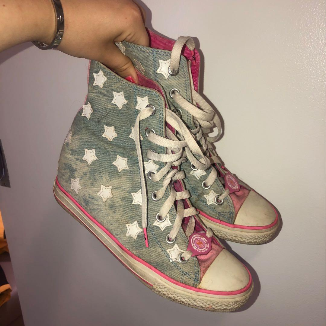RETRO 90s WEDGE CONVERSE STYLE SHOES WOMEN'S SIZE UK 7🚜