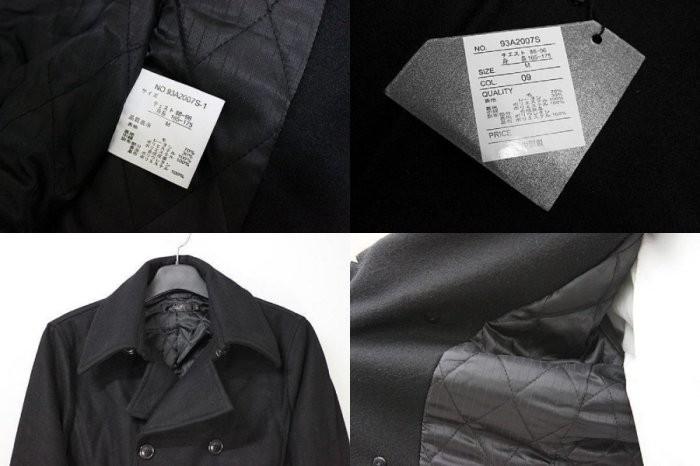 日本品牌ROHEIL 頂級窄版羊毛厚實鋪綿雙排扣短大衣