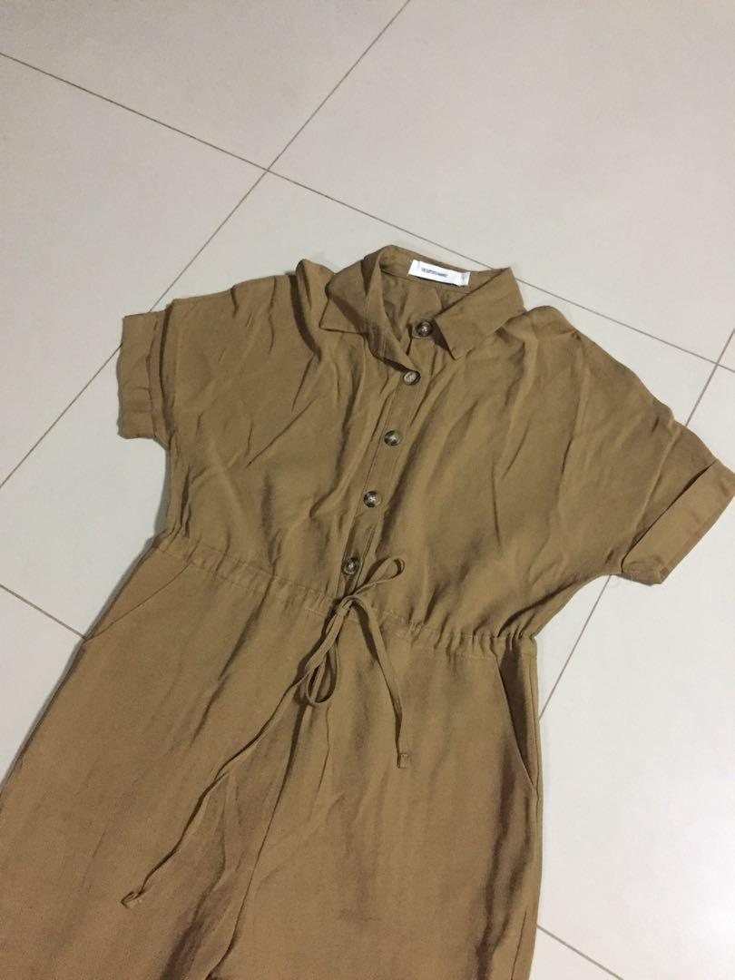 (S) TEM LILY COLLARED JUMPSUIT in Hazelnut Brown
